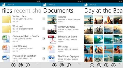 SkyDrive Windows Phone App