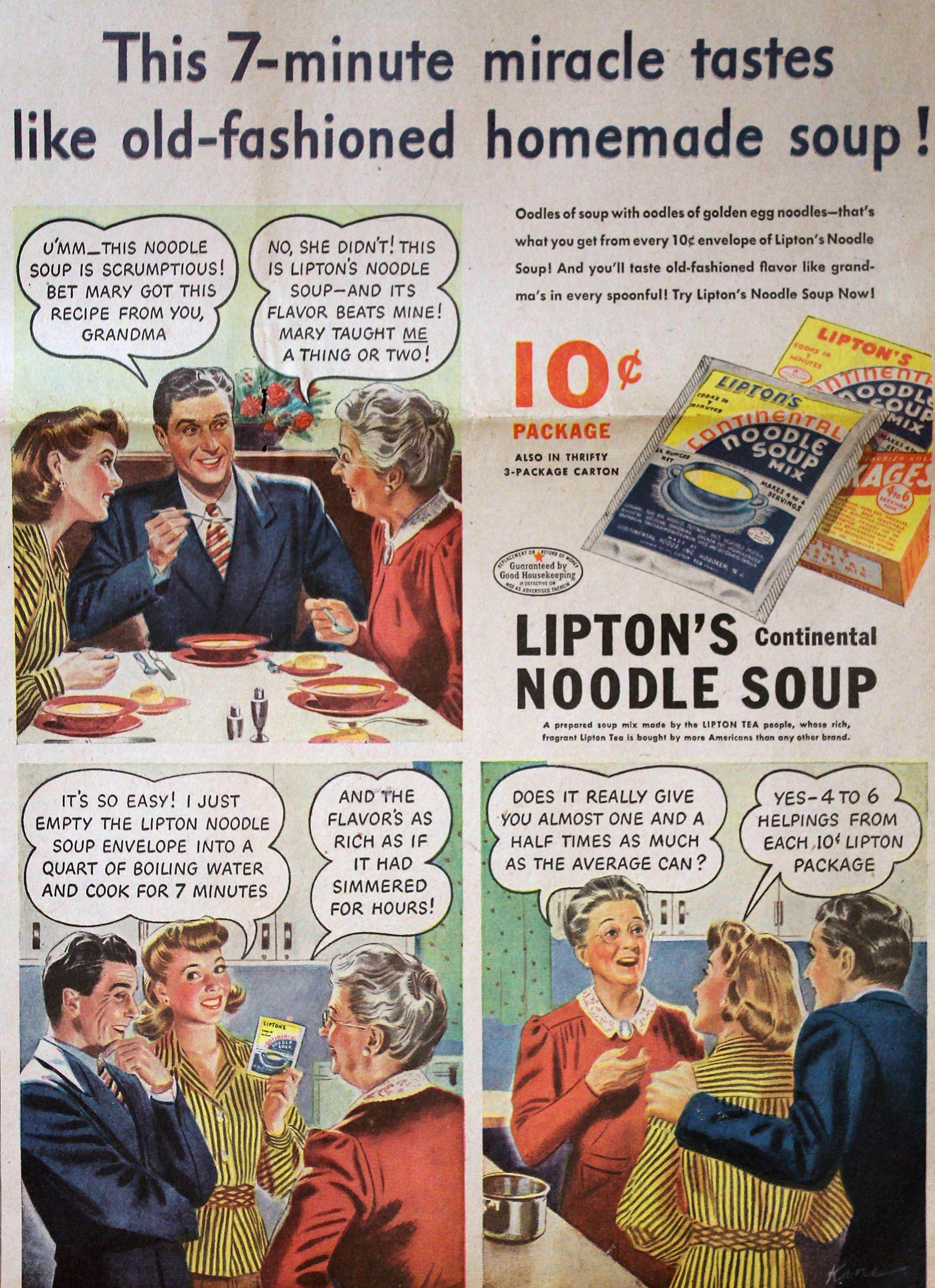 Lipton Continental Noodle Soup 1943