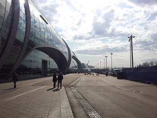 Moscow Domodedovo Airport, sous le soleil russe !