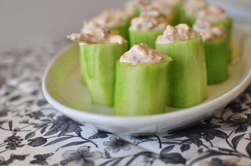 Spicy Crab in Cucumber Cups