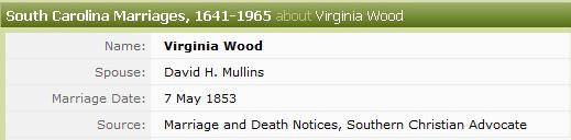 Ancestry's Mistake Virginia Wood Marriage