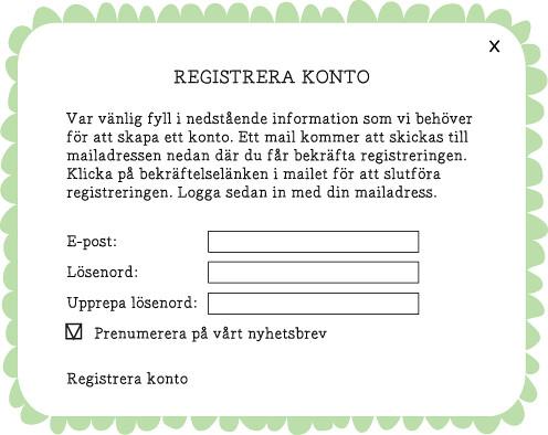 registrera konto