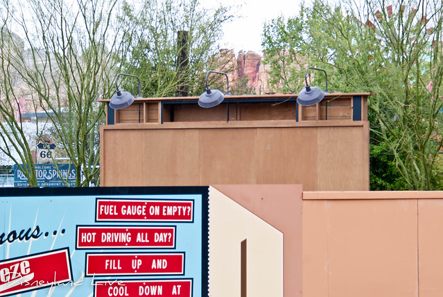 Cars Land Refurbishment - Ornament Valley Sign