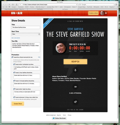 OnTheAir: The Steve Garfield Show by stevegarfield