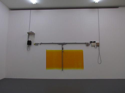 Angela Bulloch: Short, big, yellow drawing machine