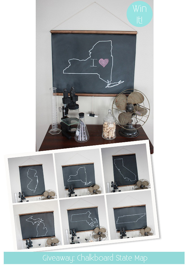 Chalkboard State Map Giveaway