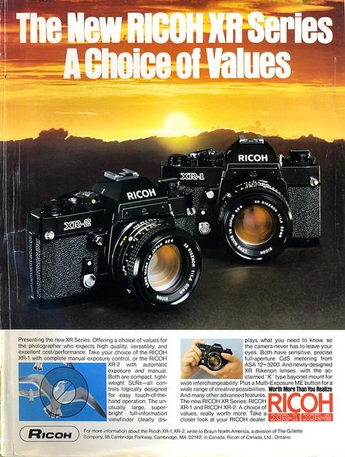 The NEW Ricoh XR series XR-1 XR-2 - 1978