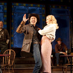 Noah Bean (as Bo Decker) and Nicole Rosenburg (as Cherie) in the Huntington's production of William Inge's BUS STOP, directed by Nicholas Martin. September 17 — October 17, 2010 at the Avenue of the Arts / BU Theatre. Photo: T. Charles Erickson