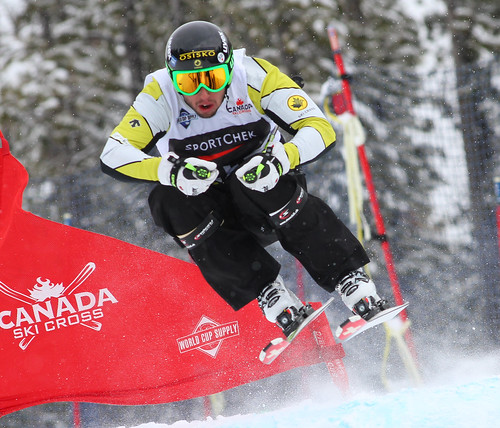 Dave Duncan training for the Sport Chek Ski Cross Canadian Championships.