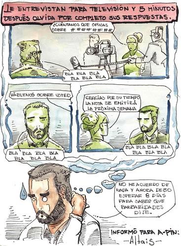 LO ENTREVISTAN PARA TELEVISIÓN Y CINCO MINUTOS DESPUÉS OLVIDA RESPUESTAS
