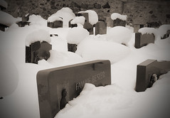 Snow, falling on Graves