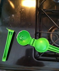 Broken lime juicer