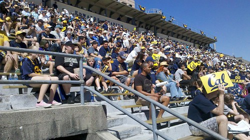 Huge Crowd at Cal Football Spring game