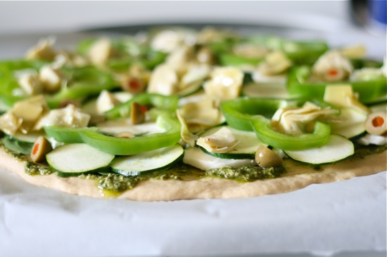 Veggie Pesto Pizza 4