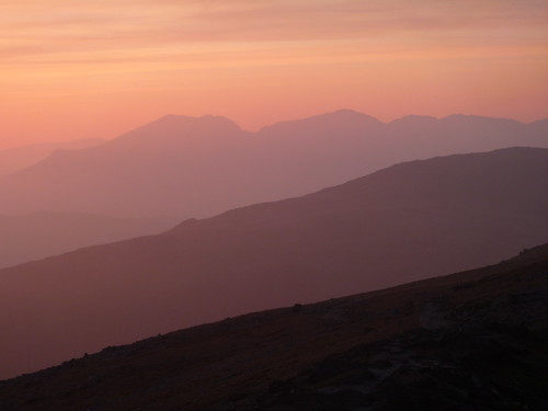 Sunset over Scafell and Grey Frair