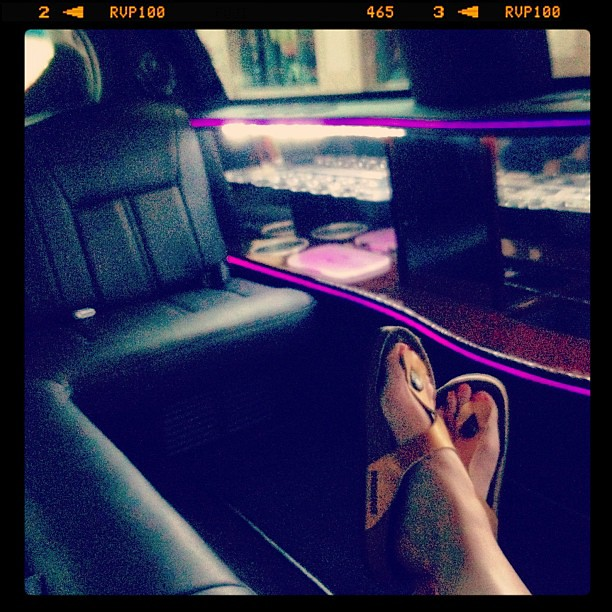 The shuttle company's vans were all out on the road... So they drove us to our hotels in a limo.