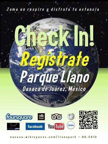 Parque Llano Check In! Regístrate Oaxaca 06.2013
