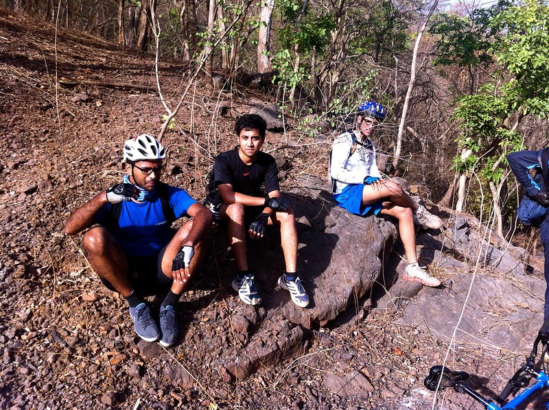 Yeoor Hills Off Road - break before the final descent