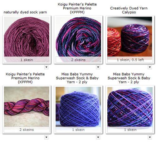 pink and purple sock yarn