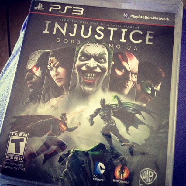 #Injustice #Gods among us #PS3 Effing excitamated!! #DCComics
