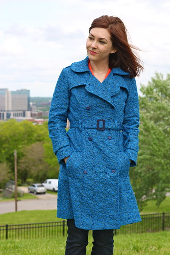 cotton lace trench coat