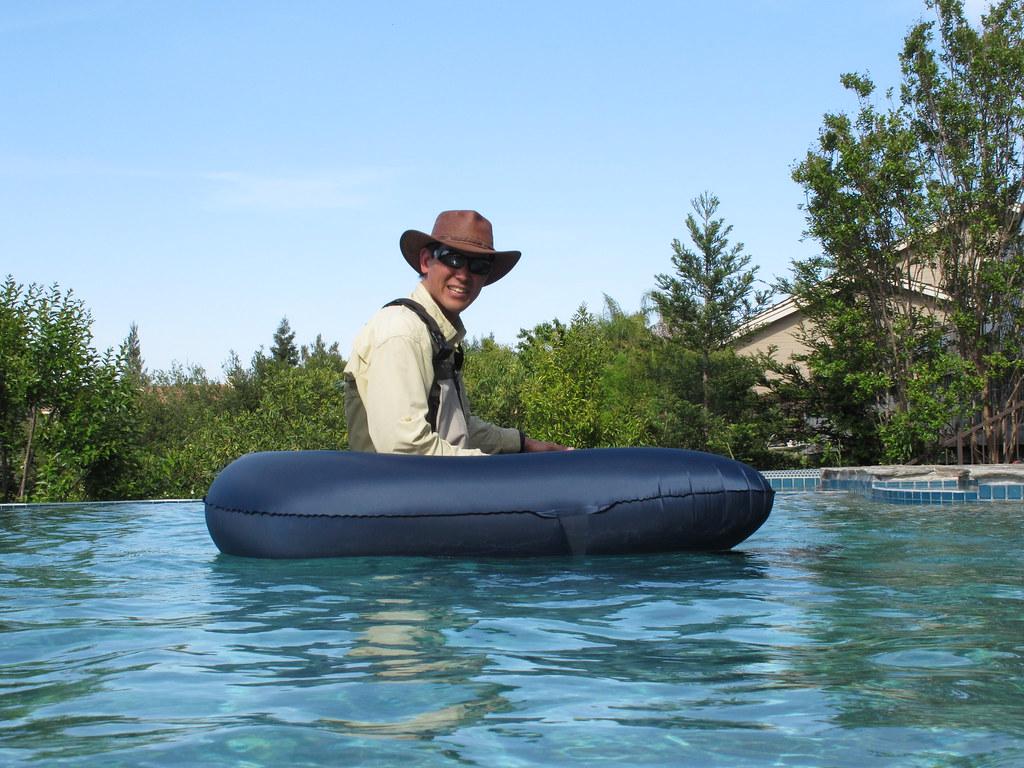 Ultralight float tube for fishing backpacking light for Ultralight fly fishing