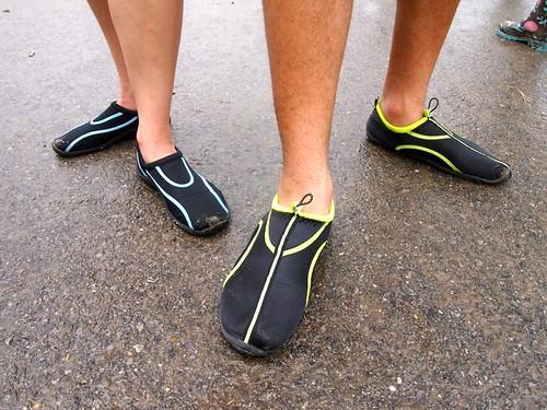 Watery footwear at Jazz Fest 2013