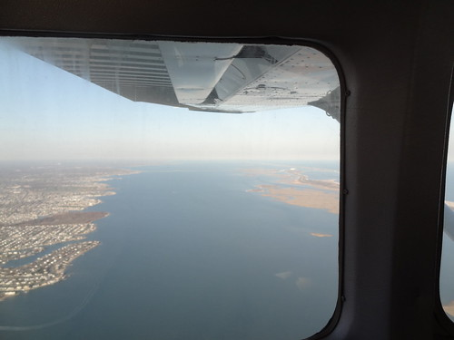 Flight over Long Island with Captains Campbell and Gold