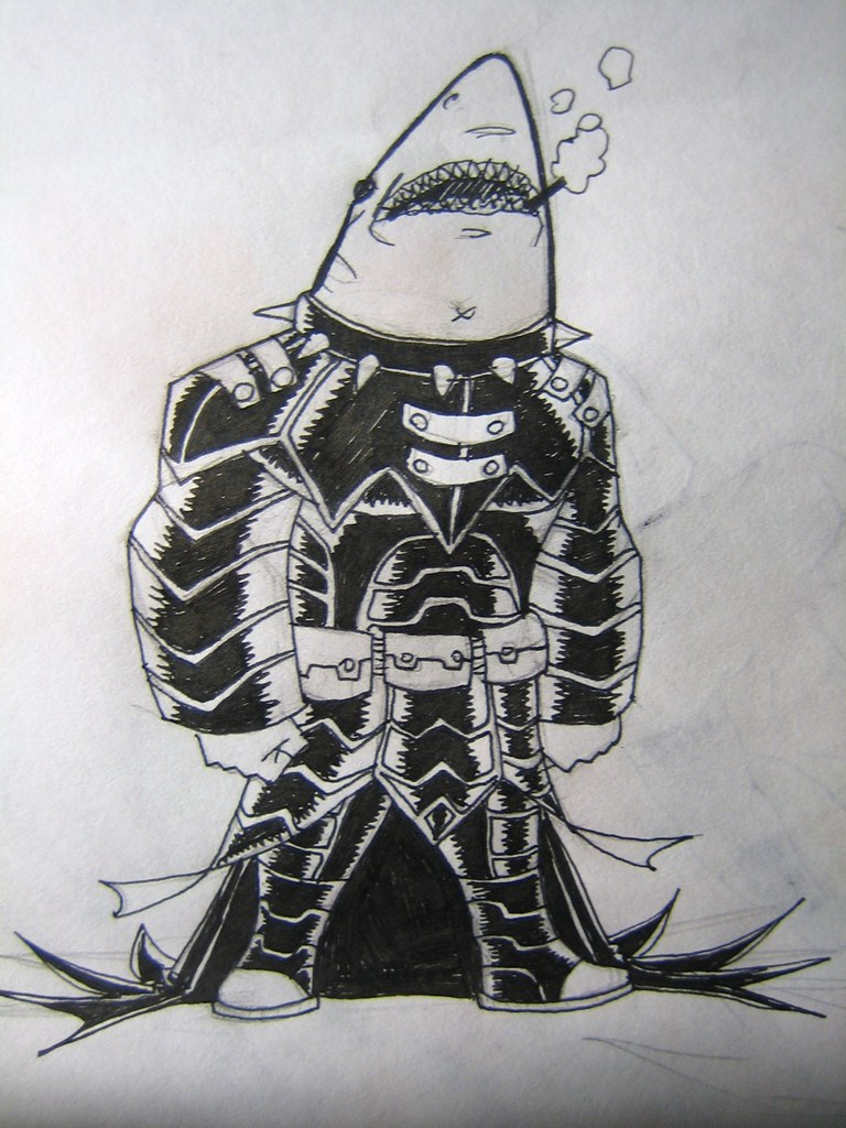 goth samurai space shark