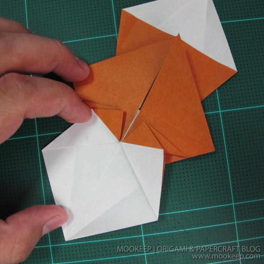 วิธีพับกระดาษเป็นรูปหมี (Origami Bear) 008