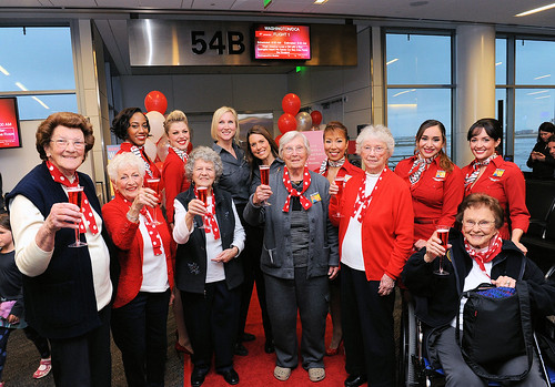 Rosie the Riveters head to Washington on Virgin America