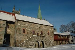 Image of Erkebispegården near Trondheim. foursquare:venue=4c2f0ff0213c2d7f163a305d foursquare:name=erkebispegården