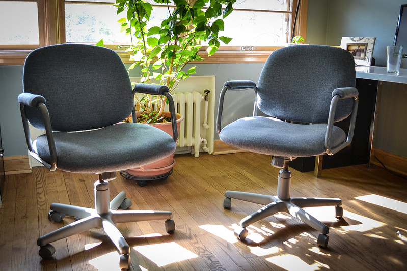 Total Upgrade: Reupholstered Office Chair | Things I Made Today