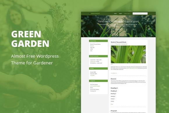 Green Garden v1.5 - Cheap WordPress Theme