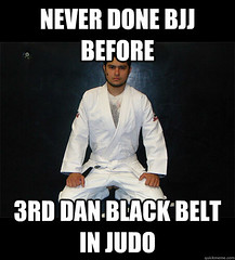 Judo white belt in BJJ