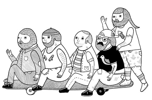 On the maintaining of firm friendships while skating a long board. by Michael C. Hsiung