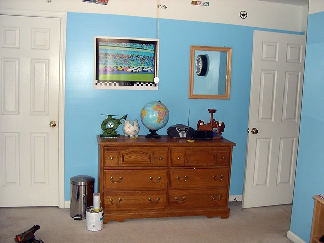 Dresser with new poster