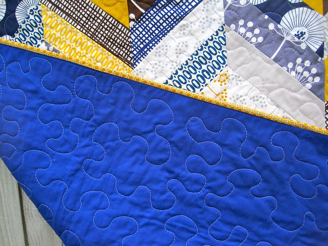 Back of Herringbone quilt
