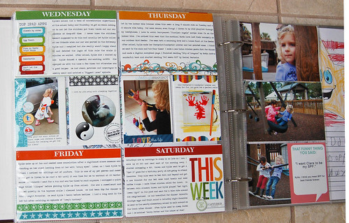 Project Life, Week 8 page 2 and picture insert front