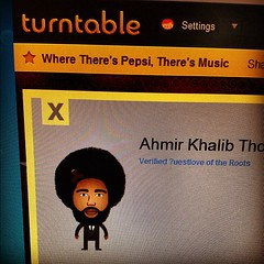@questlove !! Has his own turntable avatar! Sweet.