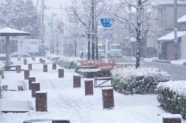 杉戸雪景色 with PENTAX K-5