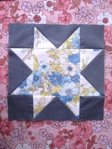 12/72 - Blue Floral Block