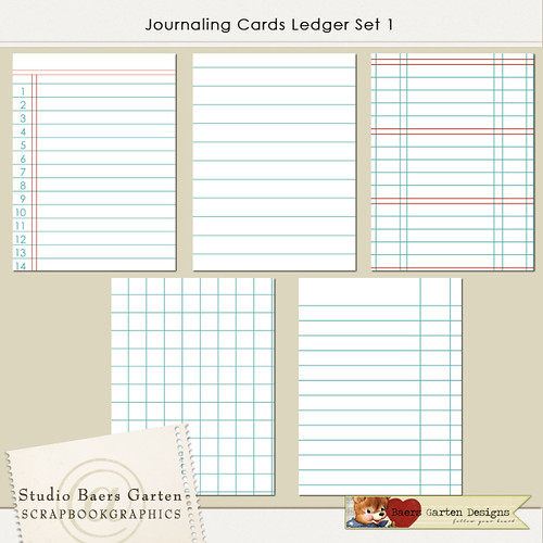 Journaling Cards Ledger Set 1