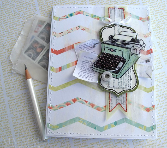 Hero Arts typewriter notebook -mel stampz