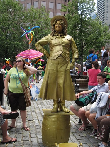 Quincy Market performer