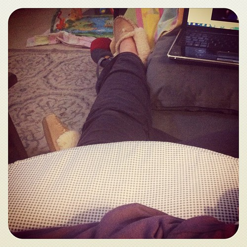 {Day 7: Something I Wore} Sherpa Sleepers, Yoga Pants, Brest Friend (aka: Lamest Product Name Ever). #marchphotoaday