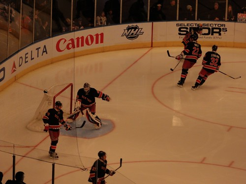 New York Rangers play at Madison Square Garden