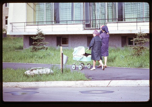 Two Pairs at Hotel Dubna, Dubna, 1969