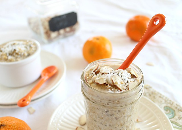 Overnight steel cut oats with orange
