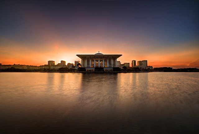 Sunrise over Putrajaya Lake.